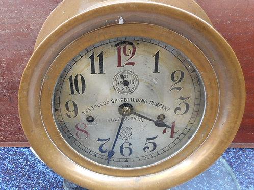 Toledo ships clock