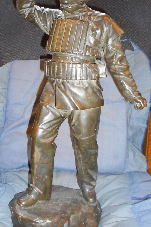 Bronze figure of a lifeboatman