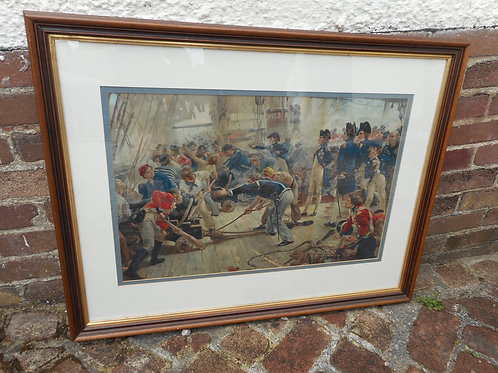 'Hero of Trafalgar' colour lithograph