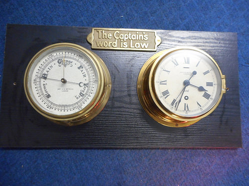Sestrel clock and barometer to suit a Captain!