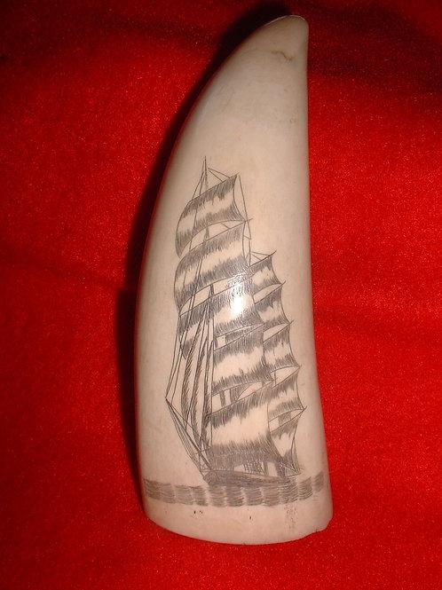 No.98 Scrimshaw of a ship