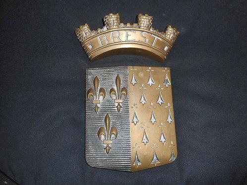 BREST brass badge
