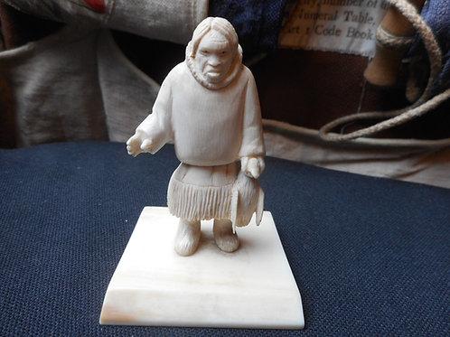 No.360 - Figure scrimshaw carving