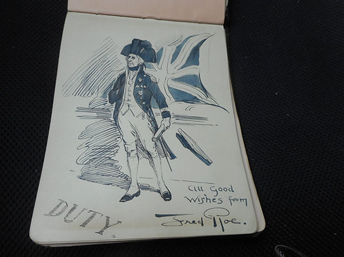 Autograph book with original drawings - 1920's