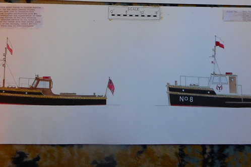 Original Trinity House scale drawing of THPL's No.8 and 'Landguard'