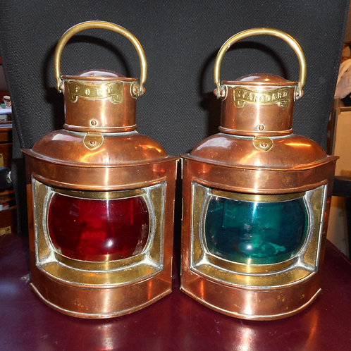 Pair small Port and Starboard ships lights