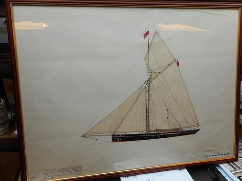 Original Trinity House drawing - Cutter 'Friends Assistance'