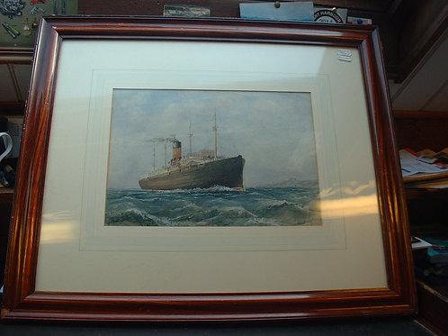Ocean Liner under steam by Edward Fletcher