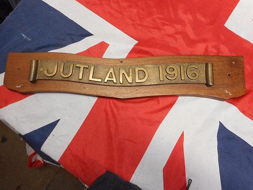 Brass battle of Jutland plaque