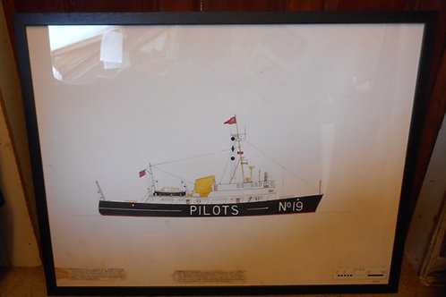 Original Trinity House scale drawing - 'Harwich diesel tender'