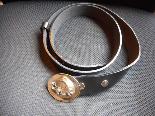 Kirby Morgan helmet leather belt and buckle