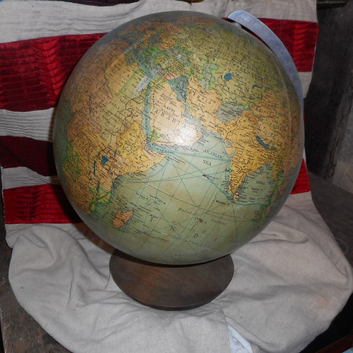 Globe on a wooden stand