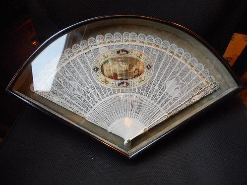 George III ivory fan commemorating Nelson