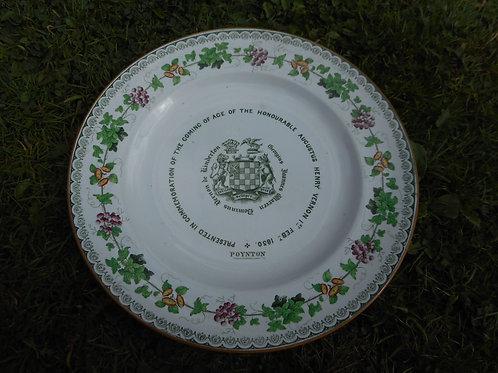 Augustus Henry Vernon commemoration plate