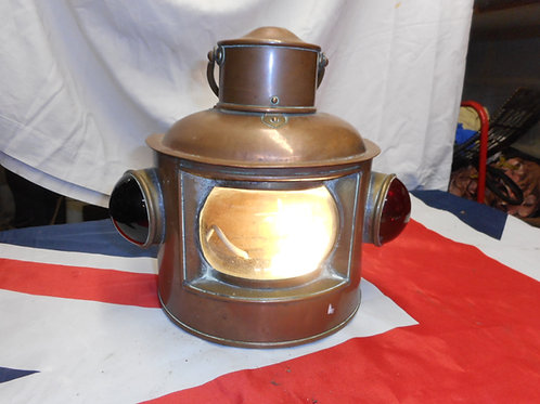 Brass electric Tri-light