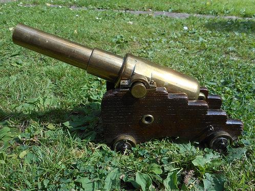 19th Century bronze desk canon