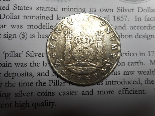 1739 Pillar Dollar or 8 Reale
