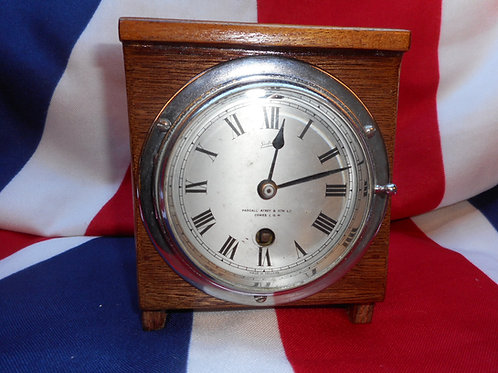 Sestrel chrome clock. Cowes.