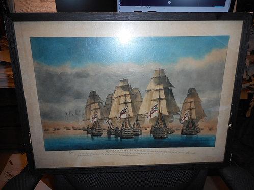 Trafalgar print -  Rear division.