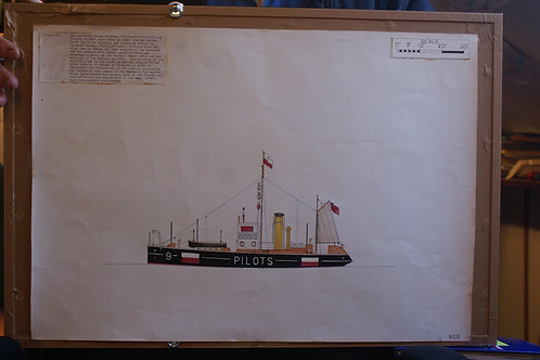 Original Trinity House scale drawing 'Vigilant'