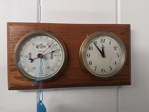 Clock and barometer set