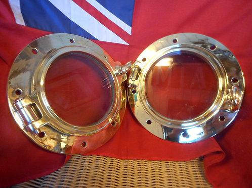 Opening brass porthole