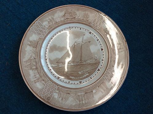'America' -Wedgwood sailing ship plate