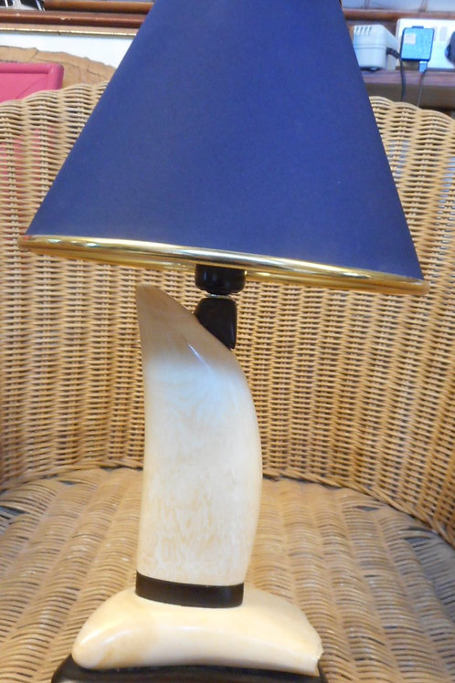 Whale tooth lamp base