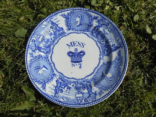 Queen Victoria Royal Navy mess plate. No.7