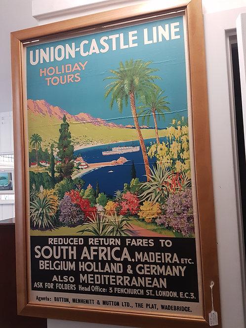 Original Union Castle Line poster