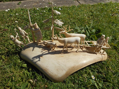NO.299. Inuit whalebone group