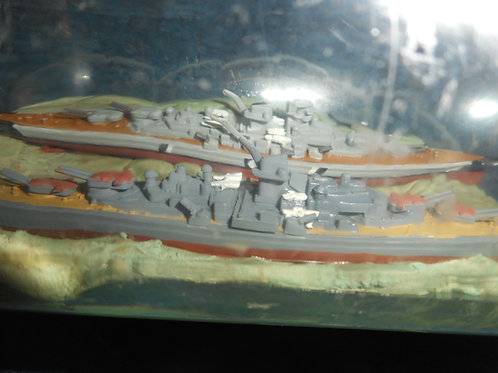 Naval ships in bottle