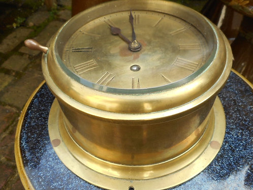 19th Century Fusee brass dial clock