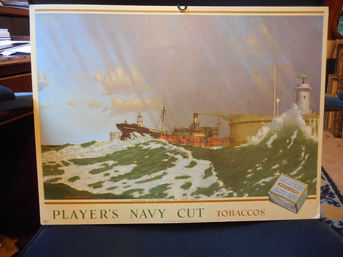 Players Navy cut advertising board