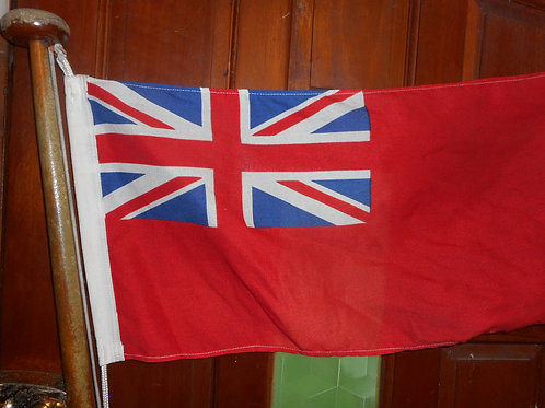 Flagstaff and red ensign