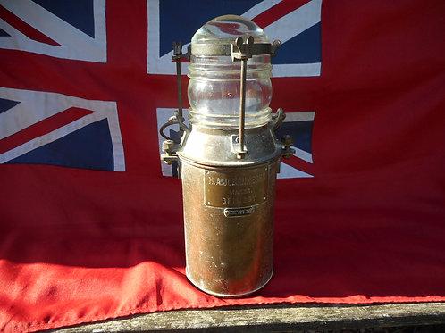 Vintage fresnel lens lantern