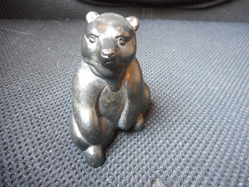Soapstone Inuit bear- signed
