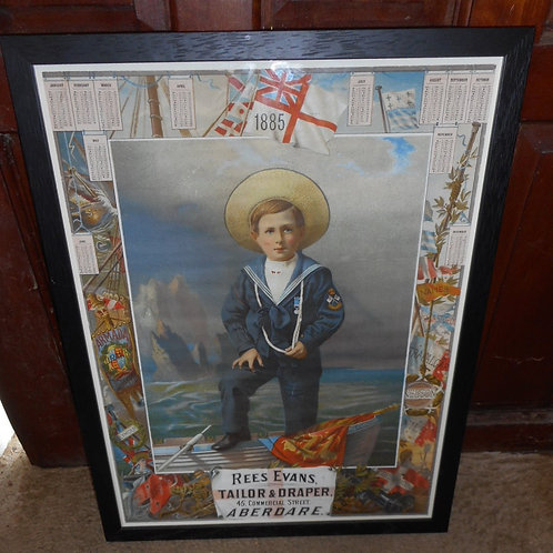 19th century advertising poster of a Sailor boy