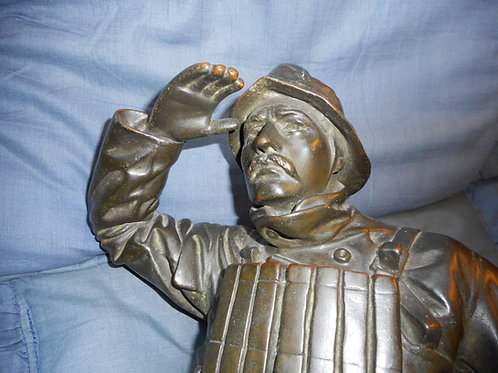 Bronze figure of a lifeboatman