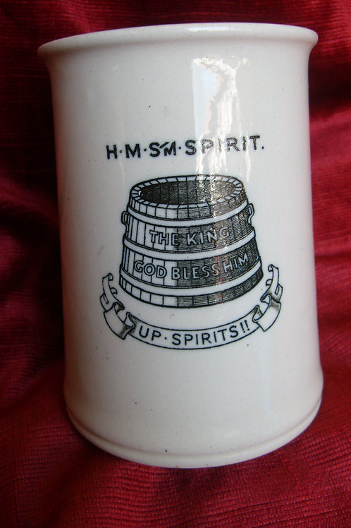 HMS Spirit saltglaze Tankard