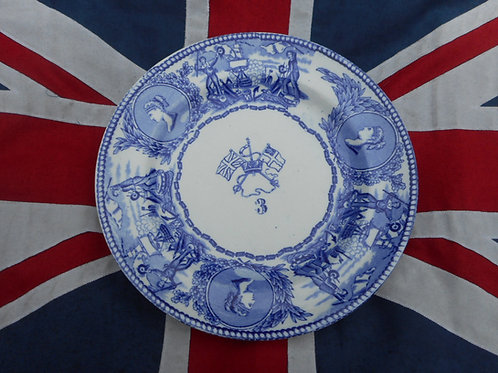 RN Mess plate, crossed flags No.3