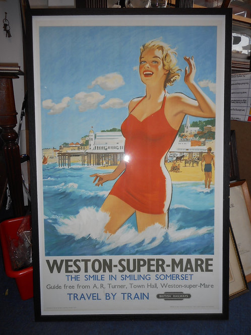 Large Weston Super Mare poster