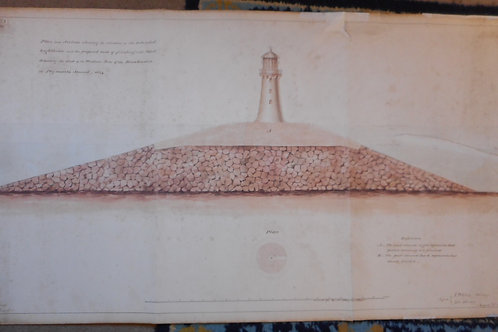 Lighthouse on Plymouth Sound architectural drawing