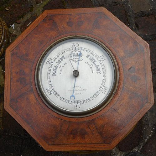 Walnut cased barometer