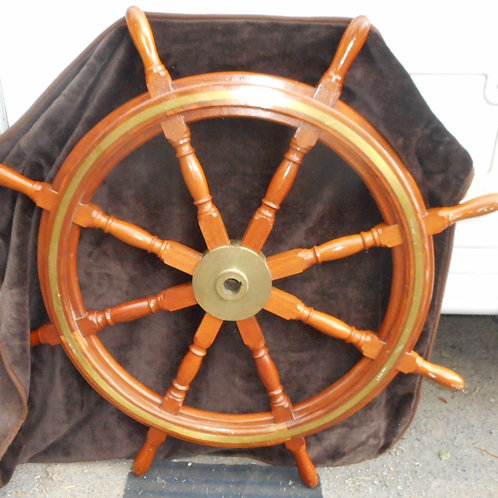 Wooden ships wheel