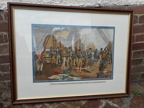 'Nelson's last signal at Trafalgar' print
