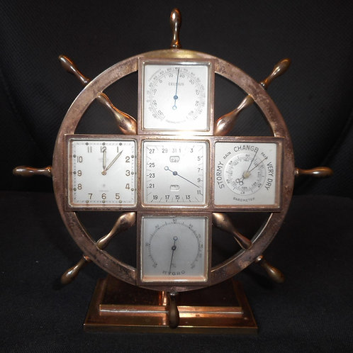 Ships wheel weather station made for Tiffany & Co