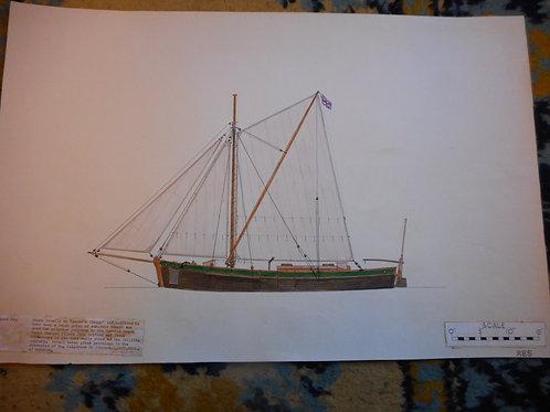 Original Trinity House drawing - 'Jacke's Clogge'