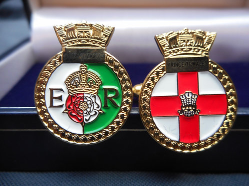 Queen Elizabeth and Prince of Wales cuff links