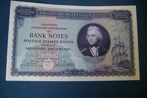 Lord Nelson Banknote